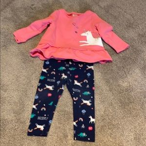 Carters unicorn outfit